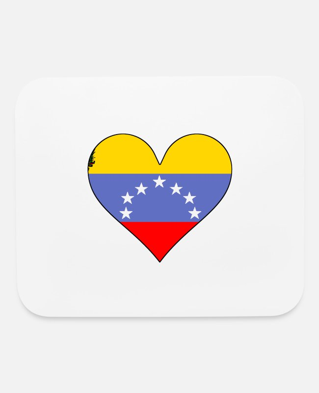Heart Mouse Pads - Venezuela Flag Heart - Mouse Pad white