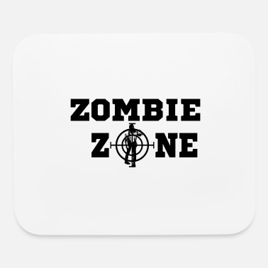 Gun Fanatic Zombie Zone black - Mouse Pad