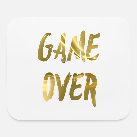 Game Over Mouse Pads - Game over - Mouse Pad white