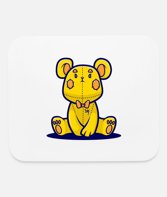 Game Mouse Pads - Yellow Teddy Bear - Mouse Pad white