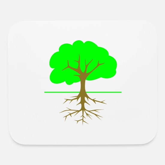 Root Mouse Pads - Tree Roots - Mouse Pad white