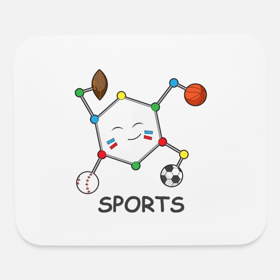American Football Mouse Pads - Sports DNA cool Baseball Basketball Football Gift - Mouse Pad white