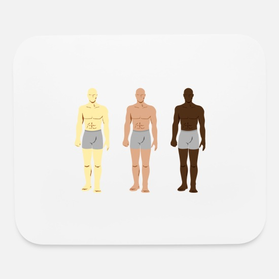Body Builder Mouse Pads - body - Mouse Pad white