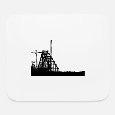 factory in black - Mouse Pad
