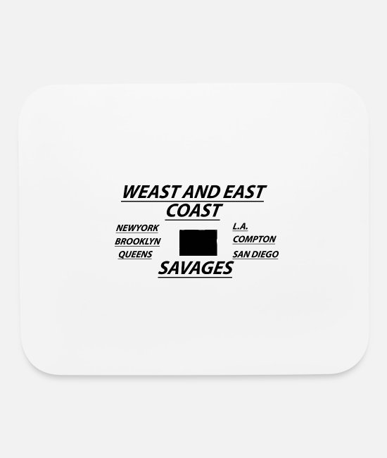East Coast Mouse Pads - love west and east coast - Mouse Pad white