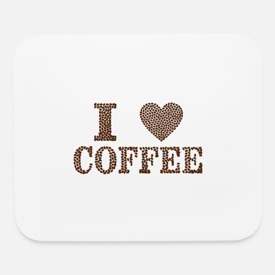 Love Mouse Pads - I love Coffee - Mouse Pad white