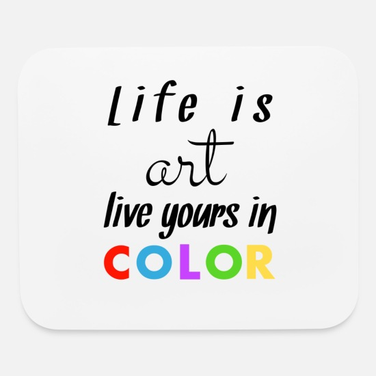 Gift Idea Mouse Pads - Color - Mouse Pad white