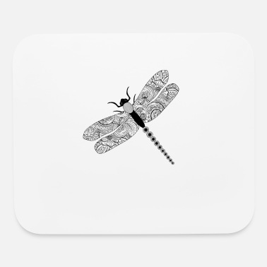 Health Tribal Mental Health Dragonfly Tattoo T-Shirt - Mouse Pad