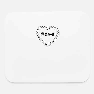 Wuff Paw Heart Wuff - Mouse Pad