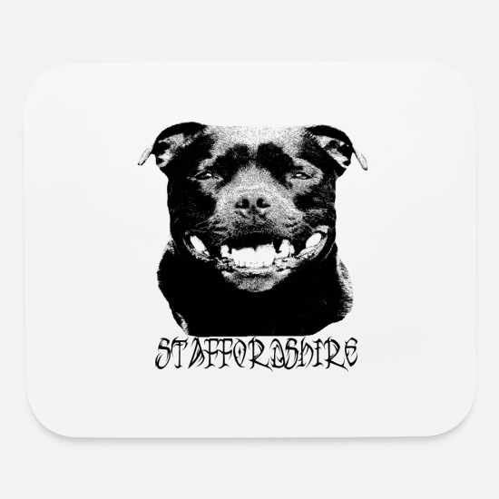 Rescue Mouse Pads - Staffordshire,Staffbull,Bulldog,dog lover,Terrier - Mouse Pad white