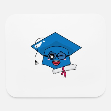Diploma Graduation Hat and Diploma - Mouse Pad