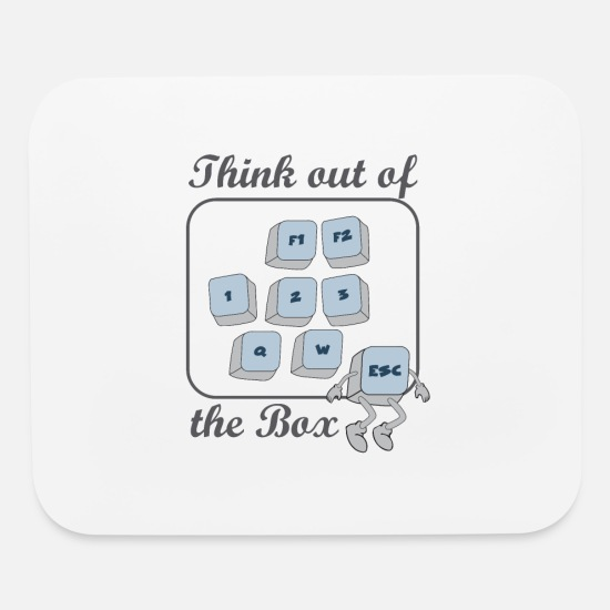 Key Mouse Pads - Nerd T-Shirt Escape Keyboard Think out of the box - Mouse Pad white