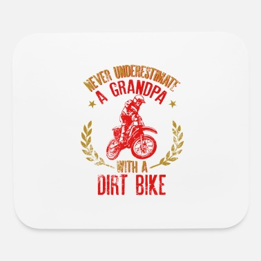 Bike Mens Never Underestimate A Grandpa With A Dirt - Mouse Pad