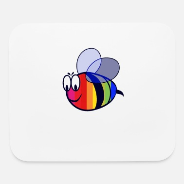 Bees Bee Proud - LGBT Pride for Gay Pride with Rainbow - Mouse Pad