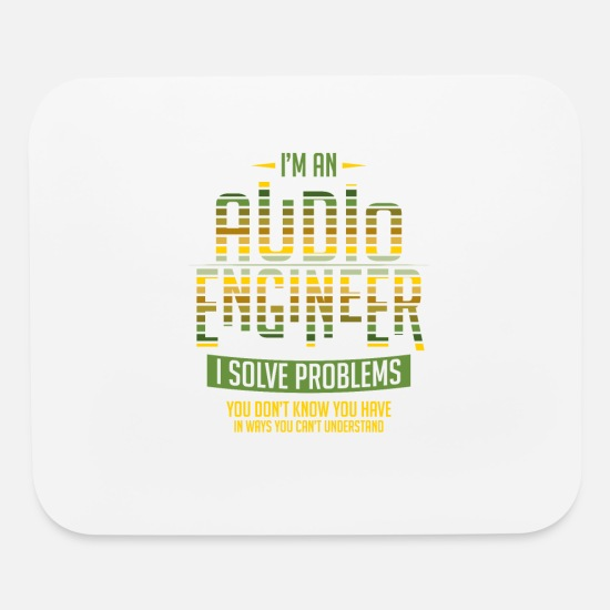 Sound Mouse Pads - Sound Engineer Shirt I Solve Problems Gift Audio - Mouse Pad white