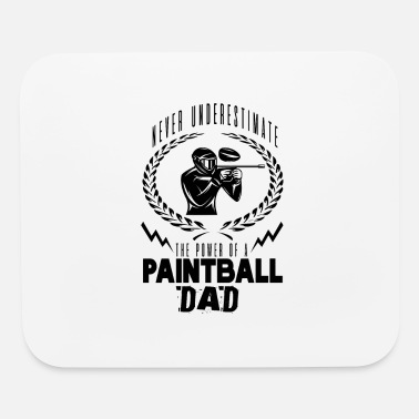 Paintball paintball dad - Mouse Pad