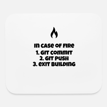Code Git on Fire - Mouse Pad