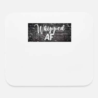 Worker Whipped AF Funny Distressed Brick Wall Design - Mouse Pad