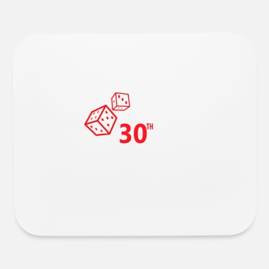Vegas 30th Birthday Rolling Vegas Gambling Dice Funny - Mouse Pad