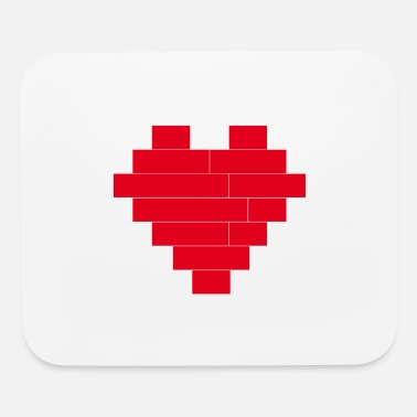 Building LOVE: Stable heart - built with blocks - for lover - Mouse Pad