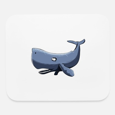 Whale Drawing sperm whale comic draw - Mouse Pad
