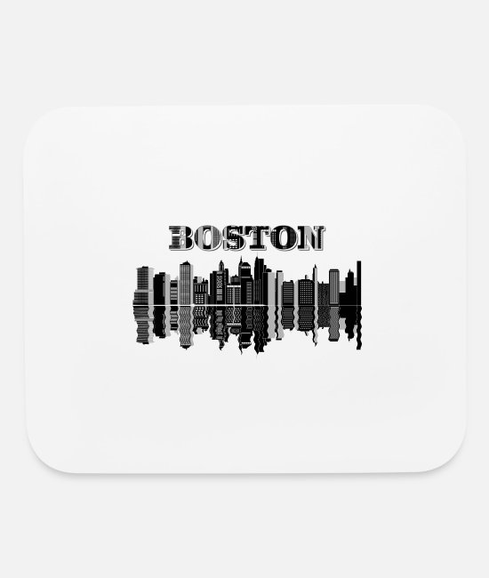 Hipster Mouse Pads - cityscape boston city - Mouse Pad white