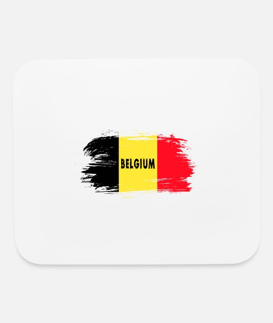 Belgien Mouse Pads - Belgium Flag / Gift Present National Flag - Mouse Pad white