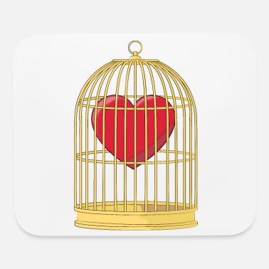 Caged CAGED HEART - HEART IN A GOLDEN CAGE - Mouse Pad