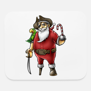 Santa Pirate Funny Christmas Candy Cane Hook Hand - Mouse Pad