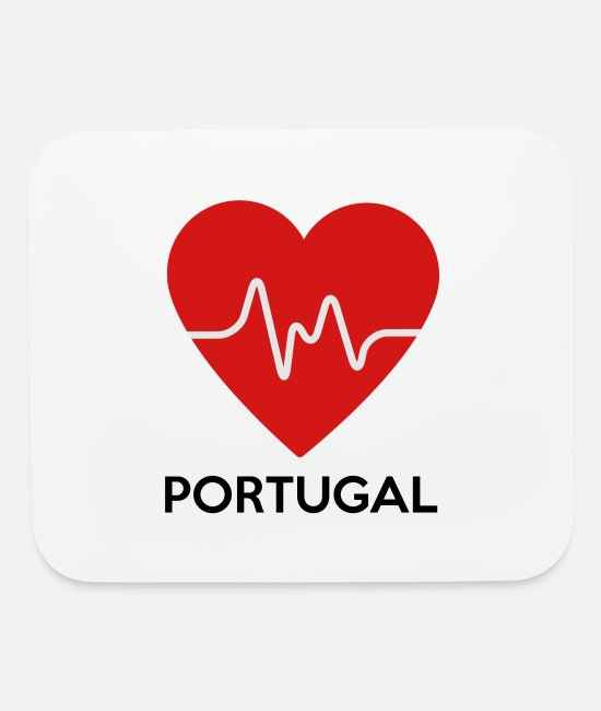 Country Mouse Pads - Heart Portugal - Mouse Pad white