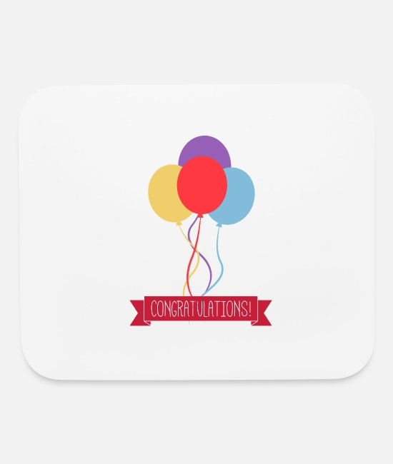 Party Mouse Pads - Congratulations - Mouse Pad white