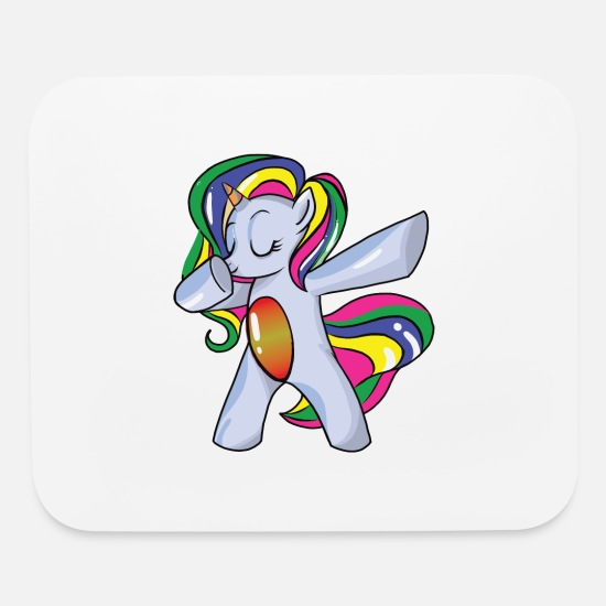 Unicorn Mouse Pads - Dabbing Unicorn and Unicorn Dab - Mouse Pad white