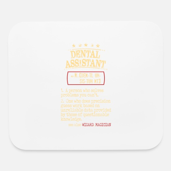 Dental Mouse Pads - Dental Assistant - Mouse Pad white