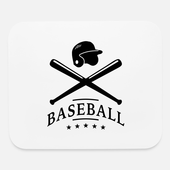 Baseball Mouse Pads - basebal_logo_2_f1 - Mouse Pad white