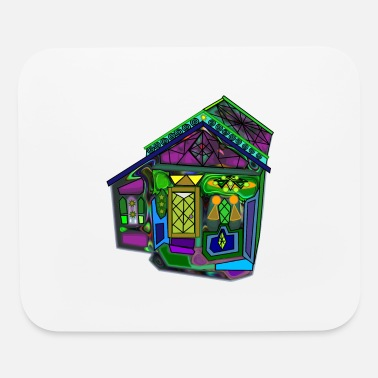 Ghastly Halloween House (by Karmabub) - Mouse Pad