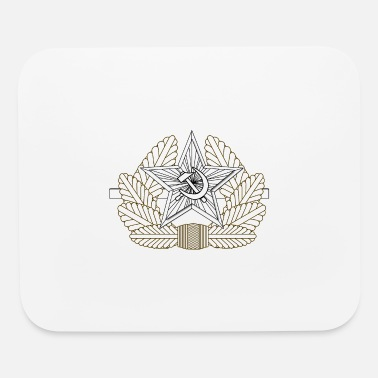 Metal Fork Soviet Metal Cap Badge Drawing - Mouse Pad