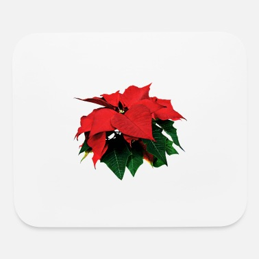 Poinsettia Poinsettia and Leaves - Mouse Pad