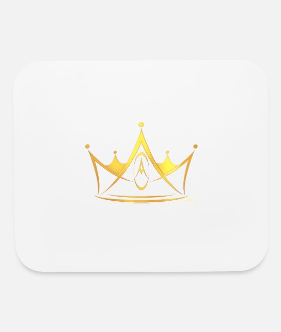 Gold Mouse Pads - Crown - Mouse Pad white