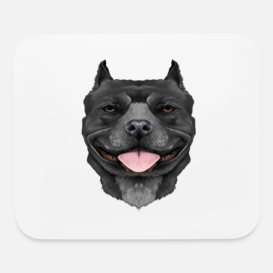 Bodyguard Mouse Pads - Hard Headed Pitbull - Mouse Pad white