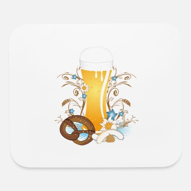 Wheat Beer Wheat beer with snack - Mouse Pad