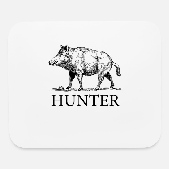 Hunting Mouse Pads - Hog Hunter - Mouse Pad white