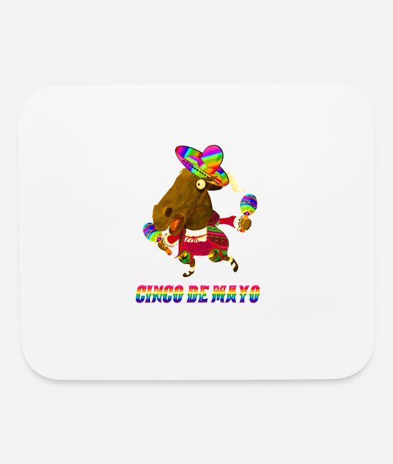 Bridal Shower Mouse Pads - Derby De Mayo Kentucky Horse Racing Gay Sombrero M - Mouse Pad white