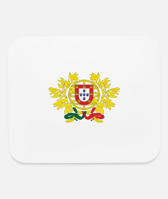 Schland Mouse Pads - Portugal grand seal design - Mouse Pad white