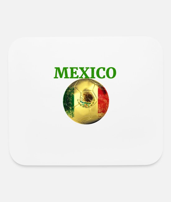 Mex Mouse Pads - mexico soccer world championship russia 2018 - Mouse Pad white