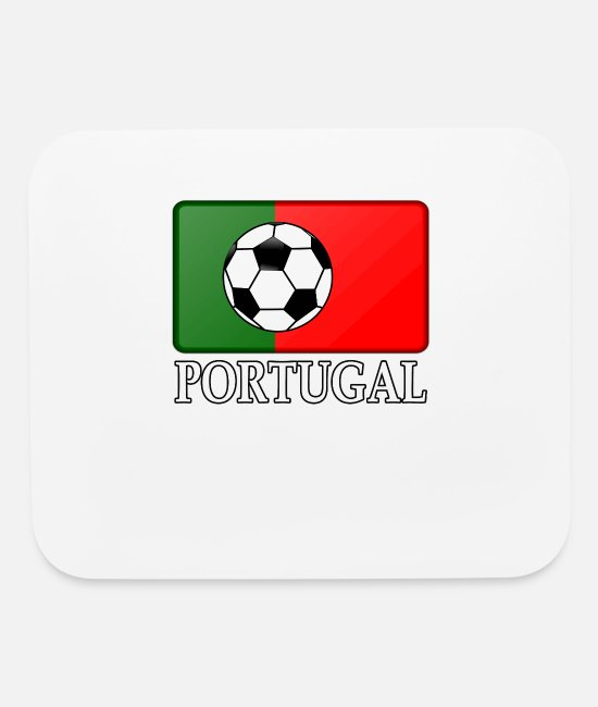 Soccer European Championshiop Mouse Pads - Soccer Portugal Flag - Mouse Pad white