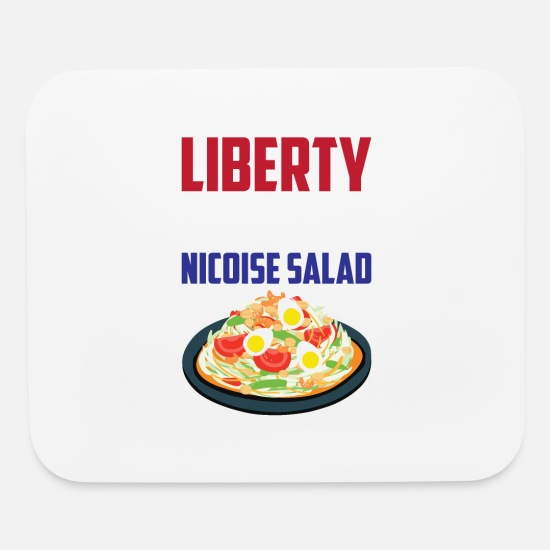 Design Mouse Pads - Liberty, Equality Nicoise Salad France French Food - Mouse Pad white