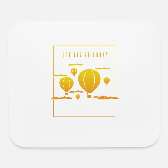 Hot Mouse Pads - Hot Air Balloons Orange - Mouse Pad white
