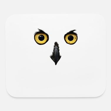 Nocturnal Bird Owl Face Nocturnal Birds Of Prey Predator Bird - Mouse Pad