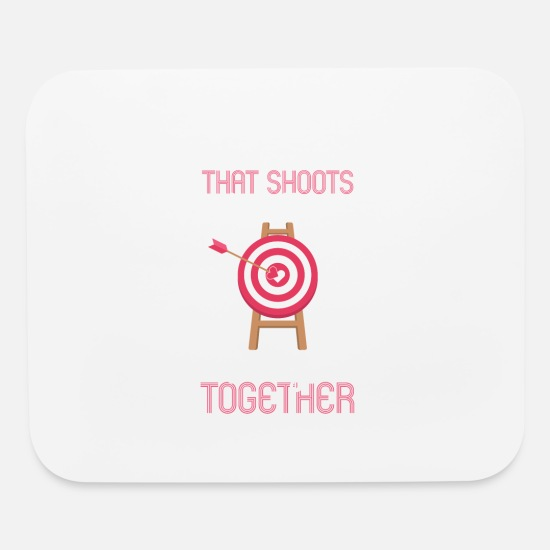 With Mouse Pads - 2nd amendment Couples Shooting Range Gun Lovers - Mouse Pad white