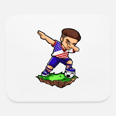 Soccer Player Dabbing Dabbing Football Player - USA - Soccer - Mouse Pad